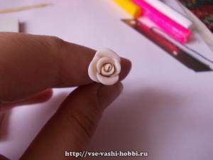 Розочки из полимерной глины