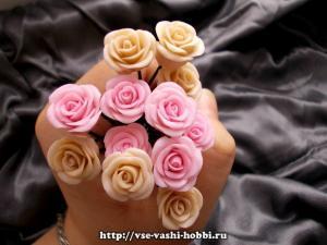 Розы из полимерной глины. Мастер-класс
