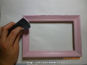 Рамка для фотографий в технике шебби – шик